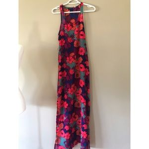 POWDER ROOM floral sheer maxi dress